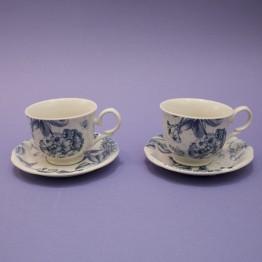 Juego 2 Tazas de Café Botanic Blue