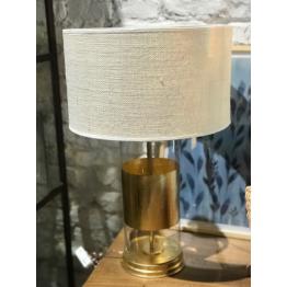 Lámpara de Vidrio con Dorado