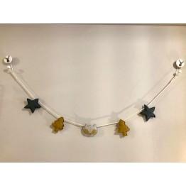 Guirnalda Estrellas y Pinos