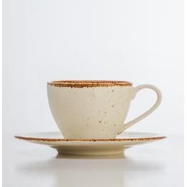 Juego 6 Tazas de Café Scandinavian Grey / Scandinavian Cream