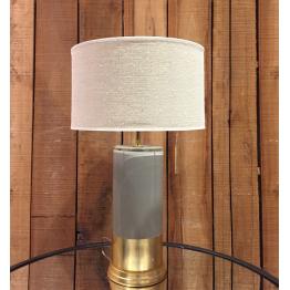 Lámpara de Vidrio Dorada