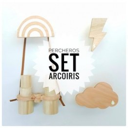 Set Perchero Arcoiris