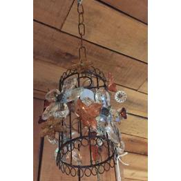Lámpara mini Reina con Flores