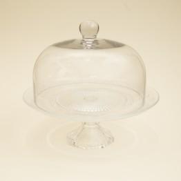 Campana con Pie de Vidrio Labrado 29cm