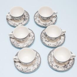 Juego 6 Tazas de Té Grey Dove