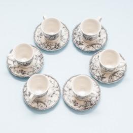 Juego 6 Tazas de Café Grey Dove