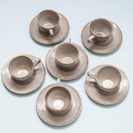 Juego 6 Tazas de Café Scandinavian Grey